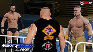 WWE 2K17 Custom Story - Brock Lesnar Confronts Finn Balor ft. John Cena! SmackDown Live 2017
