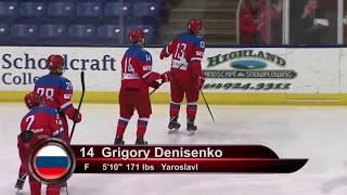 Denisenko gets two second-period goals vs. Czechs -- 2/15/18