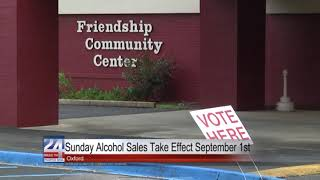 Sunday Alcohol Sales Take Effect September 1st in Oxford
