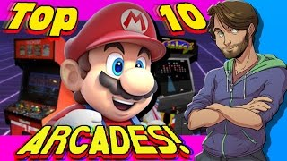 Top 10 ARCADES in Video Games! - SpaceHamster