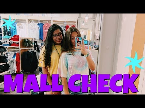 Swimming In Someone Elses Pool! Mall Shoppig Haul! Emma and Ellie