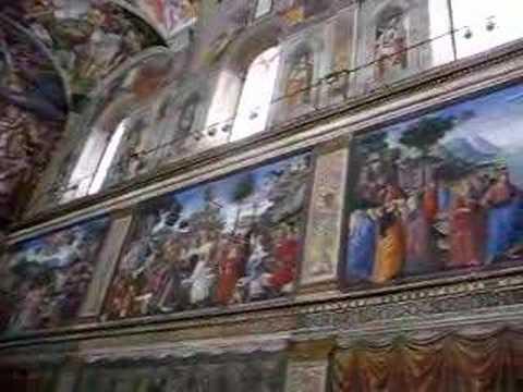 Binnen in de Sixtijnse Kapel