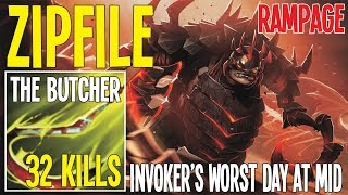 Zipfile The Butcher 32 Kills In 26 Min And Rampage Best Hooker Ever | Dota 2 Pro Gameplay