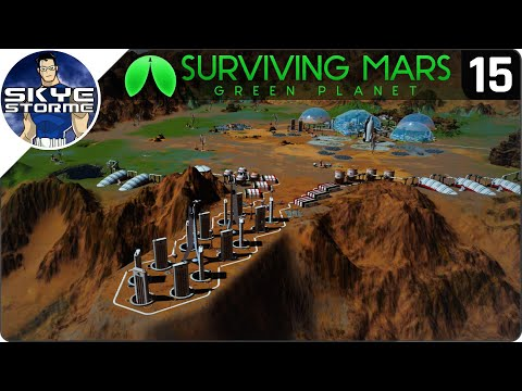 SHUTTLE HEAVEN! - Surviving Mars Green Planet EP 15 - Gameplay & Tips