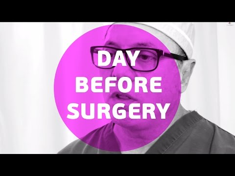 What do i have to do to be ready the day before surgery ?