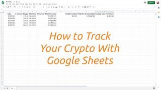 Bitcoin Trading Tracker.