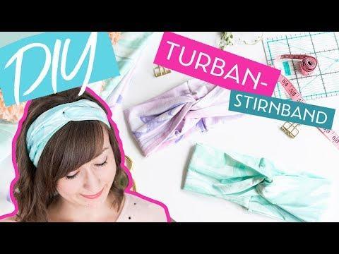 DIY Turban-Stirnband aus Jersey nähen