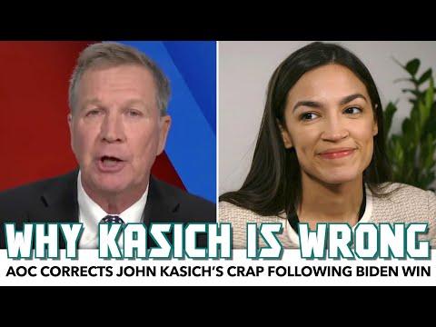 AOC Corrects John Kasich's Crap Following Biden Win