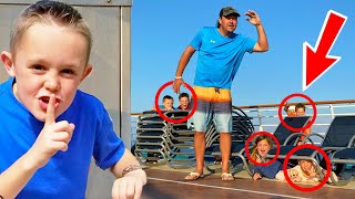 Hide and Seek on a Giant Cruise Boat w/ Ninja Kidz TV & Shot of the Yeagers!
