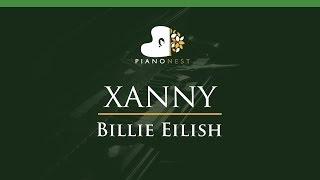 Billie Eilish   Xanny   LOWER Key (Piano Karaoke  Sing Along)