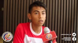 Ronnier Bustamante jugador de LaSeleSub17 comenta sus expectativas y experiencias