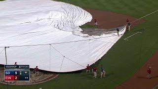 SD@CIN: Reds' grounds crew hits snag rolling out tarp