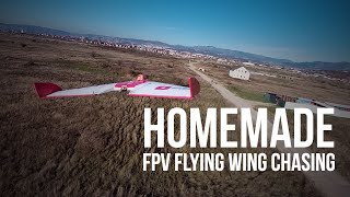 Homemade Flying Wing | FPV Chase