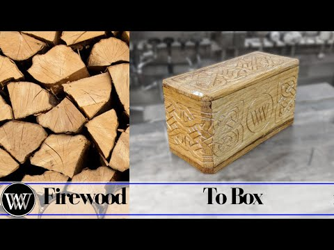 Making a Box From a Chunck of Fire Wood