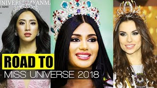 ROAD TO MISS UNIVERSE 2018 - TOP FINALISTS