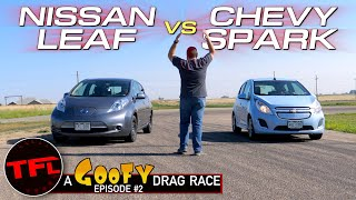 Tesla Beware! These Two Monsters Are Hot On The Heels Of The Model S Plaid   Goofy Drag Race #2