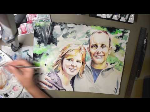 A watercolor painting time lapse.