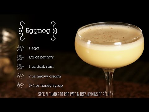 Video Holiday Cocktail How-To: Eggnog with Peché's Rob Pate & Trey Jenkins
