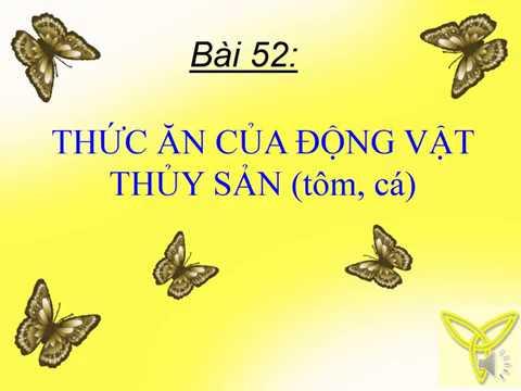 CÔNG NGHỆ 7 - BÀI 52 - 53: THỨC ĂN CỦA ĐỘNG VẬT THỦY SẢN (TÔM, CÁ)