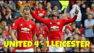 Manchester United Vs Leicester City 41 // All Goals & Highlights
