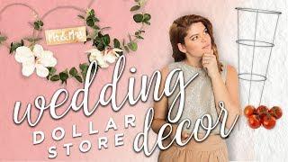 DOLLAR STORE WEDDING DECOR (friggin Gorg)