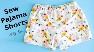 Learn To Sew Pajama Shorts - Beginner Sewing Project