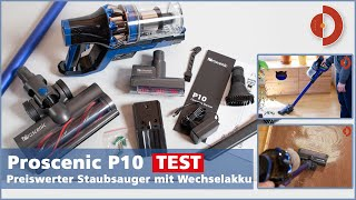 Proscenic P10 Test, Wechselakku, 22000 Pa Saugleistung unter 200 Euro, geht das?