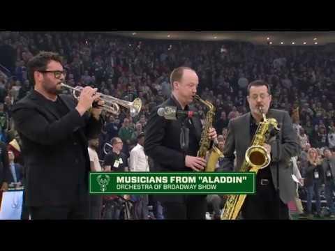 National Anthem for a Milwaukee Bucks game