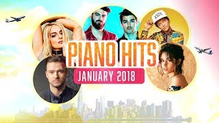 Gambar cover Piano Hits Pop Songs January 2018 : Over 1 hour of Billboard hits - music for classroom ,studying