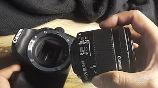 how to attach or remove a Lens from a Canon DSLR
