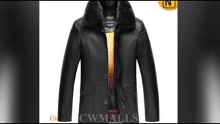 Men Fur Coat   CWMALLS® Edmonton Mens Mink Fur Lined Leather Coat CW857335 Custom Made