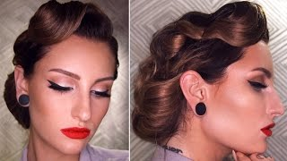 50s INSPIRED VINTAGE UPDO HAIRSTYLE TUTORIAL