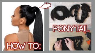HOW TO: Ponytail Extensions selber machen | gehts das ? LilixyMee