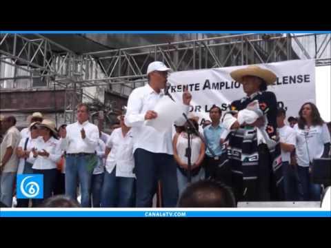 Organizaciones del Frente Amplio Morelense, exigen renuncia de Gobernador de Morelos, Graco Ramírez
