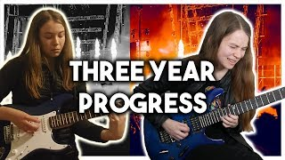 Three Years Playing The Electric Guitar   Month By Month Progress