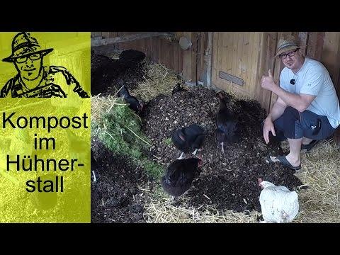 Komposthaufen im Hühnerstall (Deep Litter)