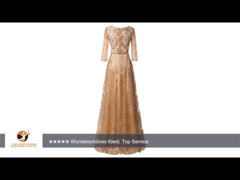 Milano Bride Damen Glarmour Langarm Abendkleider Ballkleider Promkleider mit Stickerei Guertel