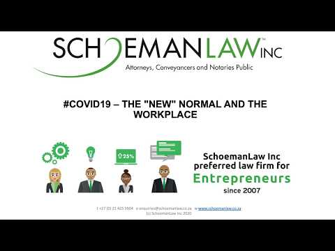 "The ""New Normal"" and the Workplace"