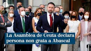 La Asamblea de Ceuta declara persona non grata a Santiago Abascal