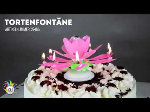 Tortenfontäne Blume mit Sound