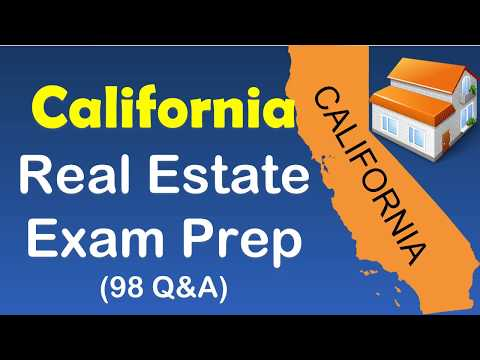 California real estate exam prep with 98 Questions and Asnwers ...