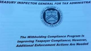 IRS Withholding Compliance Unit Complaint Form Process