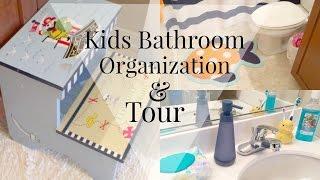Bathroom Organization: Kids Edition + DIY