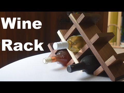 Walnut Wine Rack | A Simple Woodworking Project for a Friend's Wedding