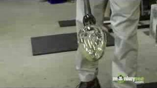 Glass Blowing - Shaping the Piece on the Blowing Iron