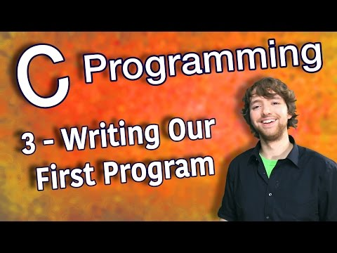 C Programming Tutorial 3 – Writing Our First Program – Hello World