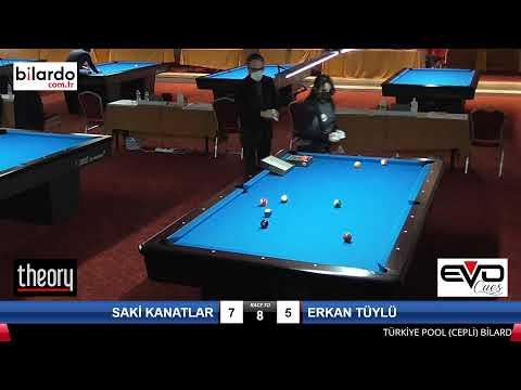 SAKİ KANATLAR & ERKAN TÜYLÜ Bilardo Maçı -