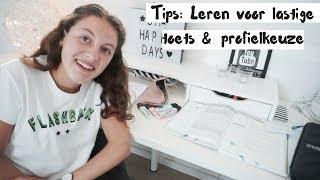 Hoe ik leer voor een lastige toets + mijn profielkeuze ♡ Eva Rose