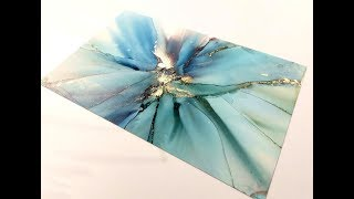 Alcohol Ink Linear Fade Tutorial