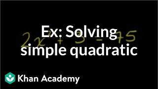 Simple Quadratic Equation